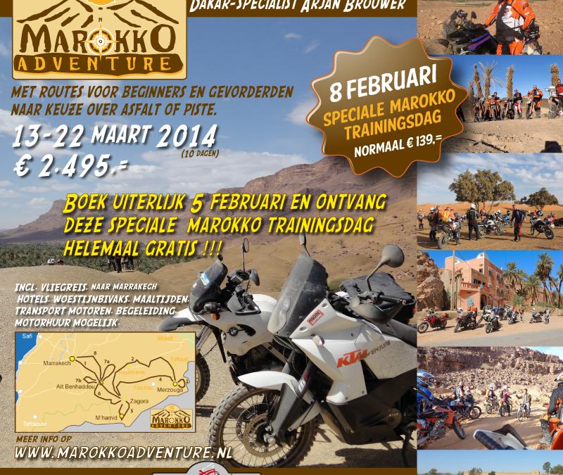 Zaterdag 8 februari: All- en Offroad cursus voor motorreizigers te Putten.